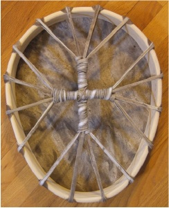 Egg-Shaped Buffalo Rawhide Drum