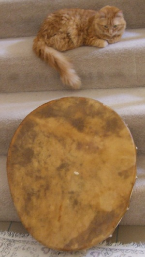 24-inch x 21-inch Egg-Shaped Buffalo Rawhide Drum