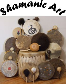 Bear, Buffalo, Elk, Horse, and Moose Rawhide Drums and Rattles