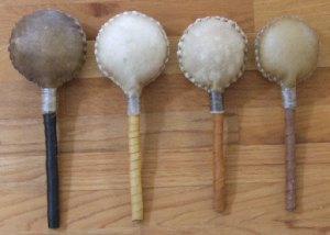 Collection of Rawhide Rattles